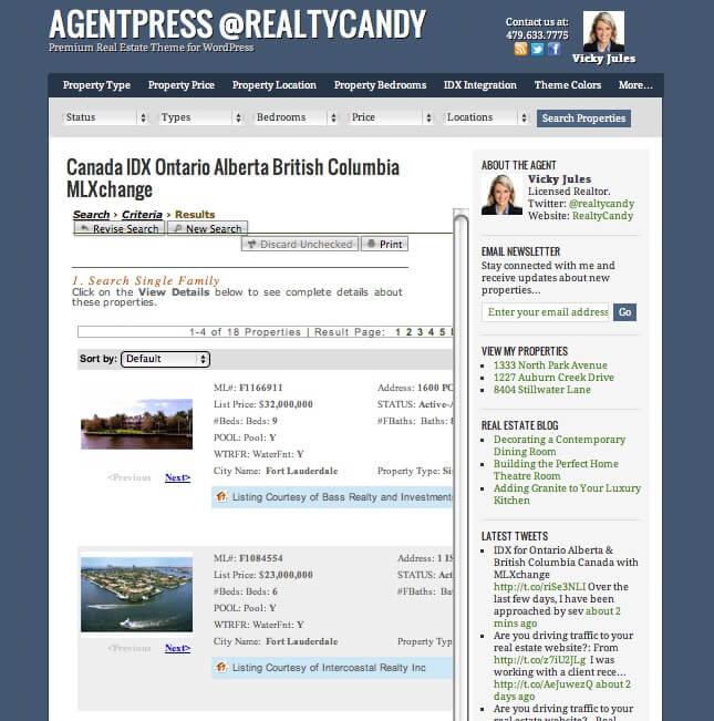 MLXchange agentpress idx Ontario Alberta British Columbia Canada