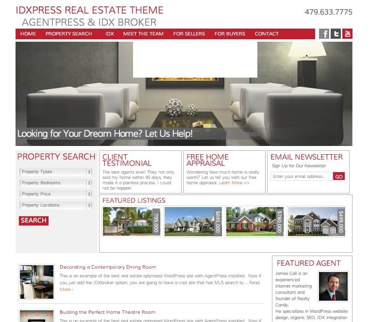 idxpress real estate wordpress theme idx broker agentpress genesis