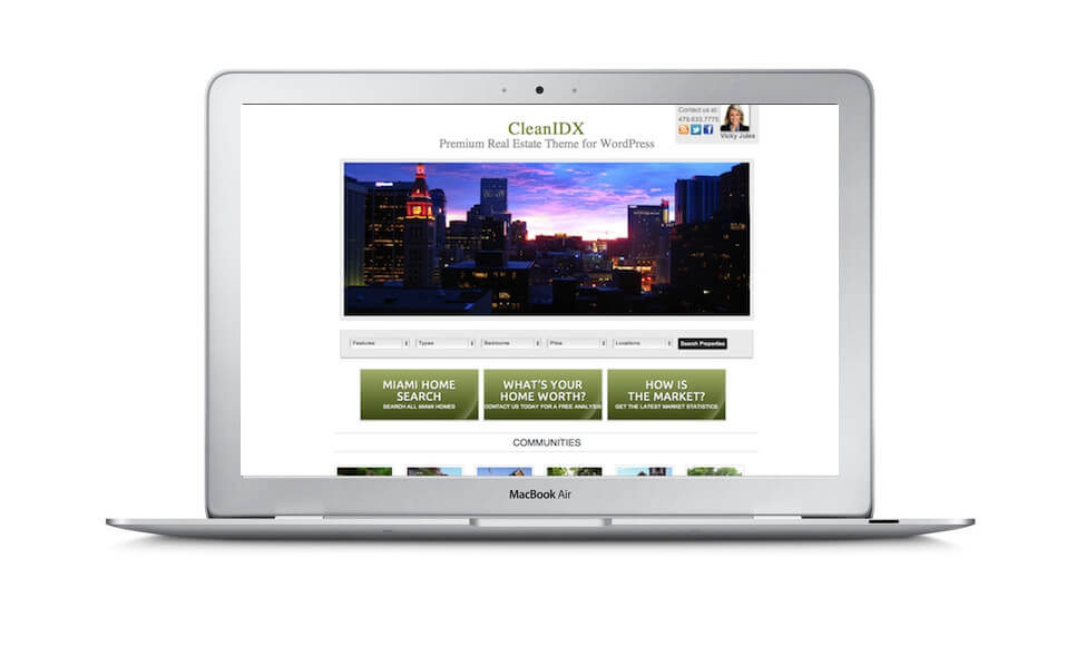 WordPress IDXbroker Real Estate Website Apple iPad MacBook Air iMac