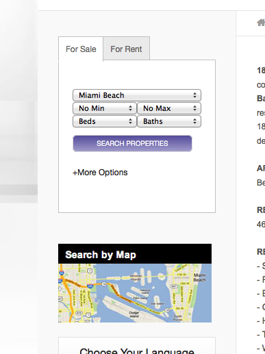 Real Estate Website of the Week 5 IDX Broker Search Tabs
