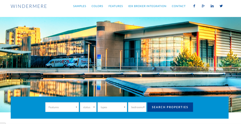 idx broker search for equity wordpress real estate theme