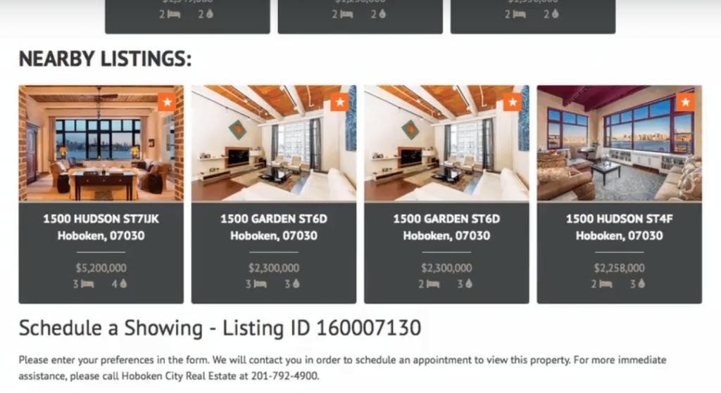 IDX Broker nearby listings