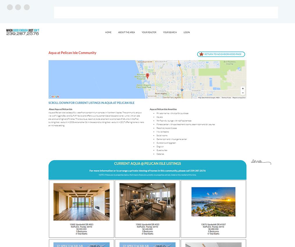 Your Naples Expert Weebly Site with IDX Broker