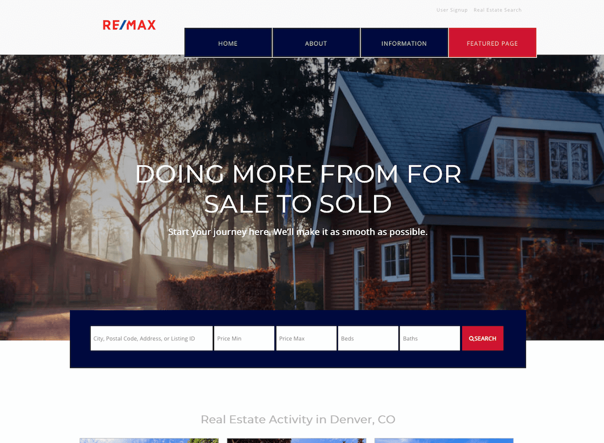 Demo site for free real estate theme download