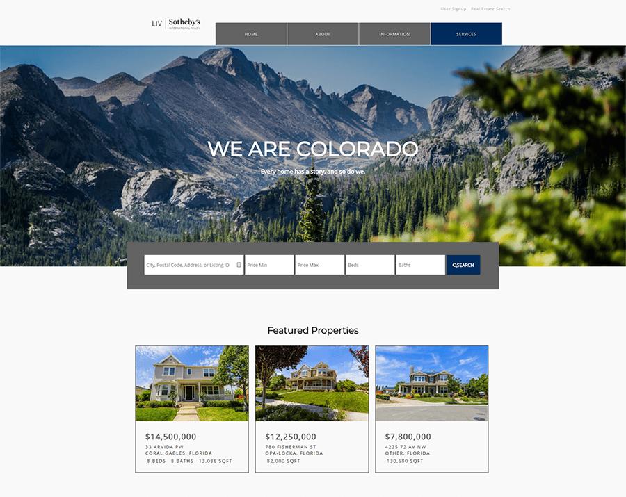 Sweet Home Pro Sothebys Demo Full website setup with wordpress and idx broker