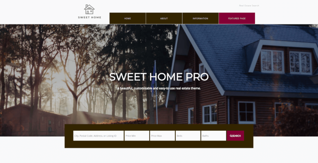 Sweet Home Pro Full Website Setup Real Estate Wordpress and IDX Broker Real Estate Theme