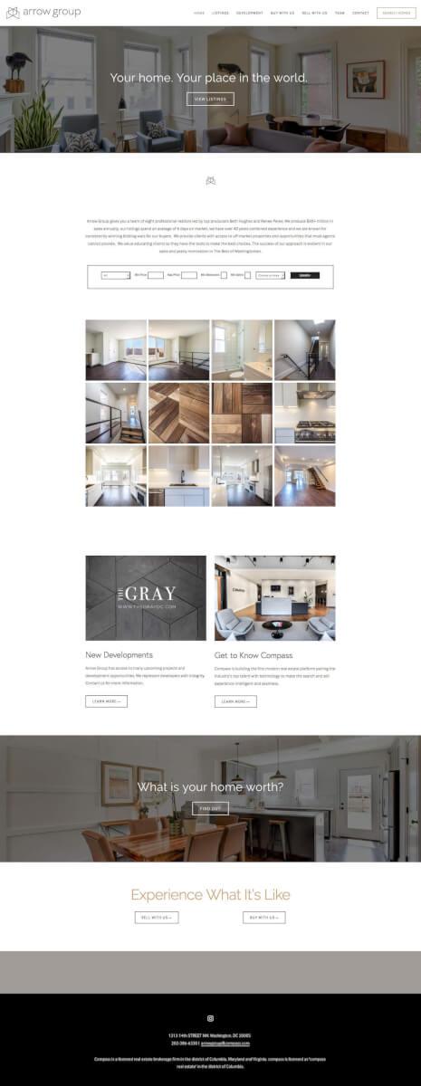 real estate SquareSpace site