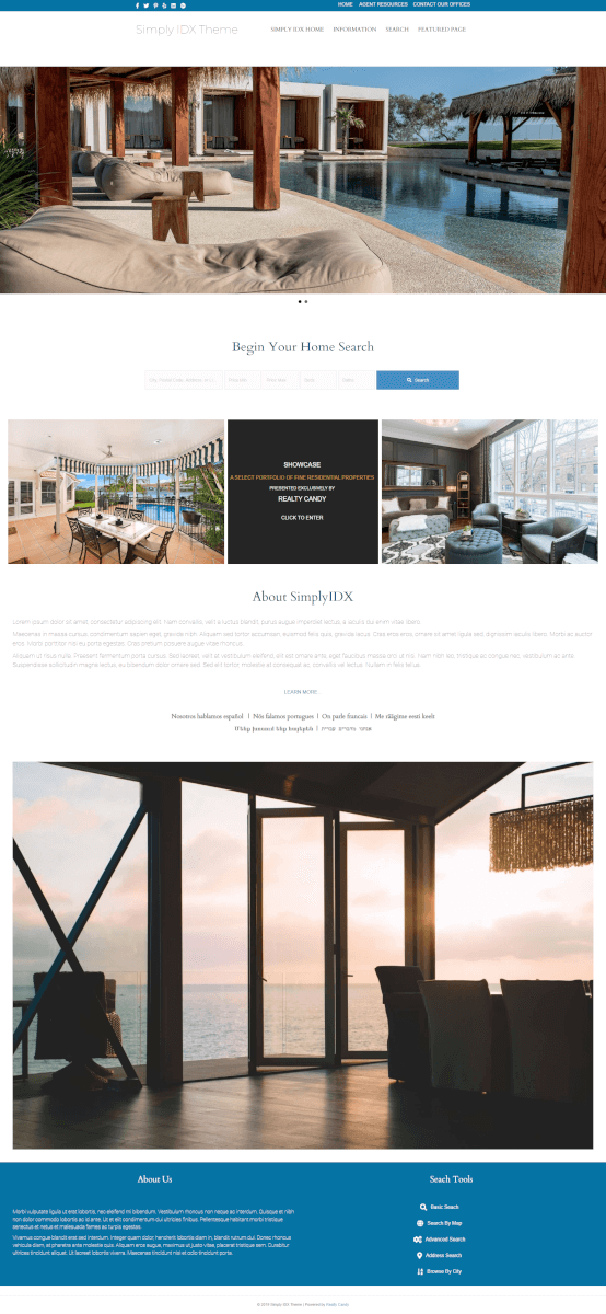 Waterfront Home Page