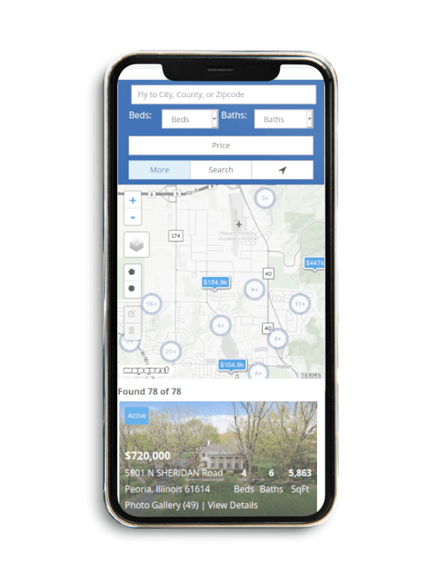 Map Search Mobile Example
