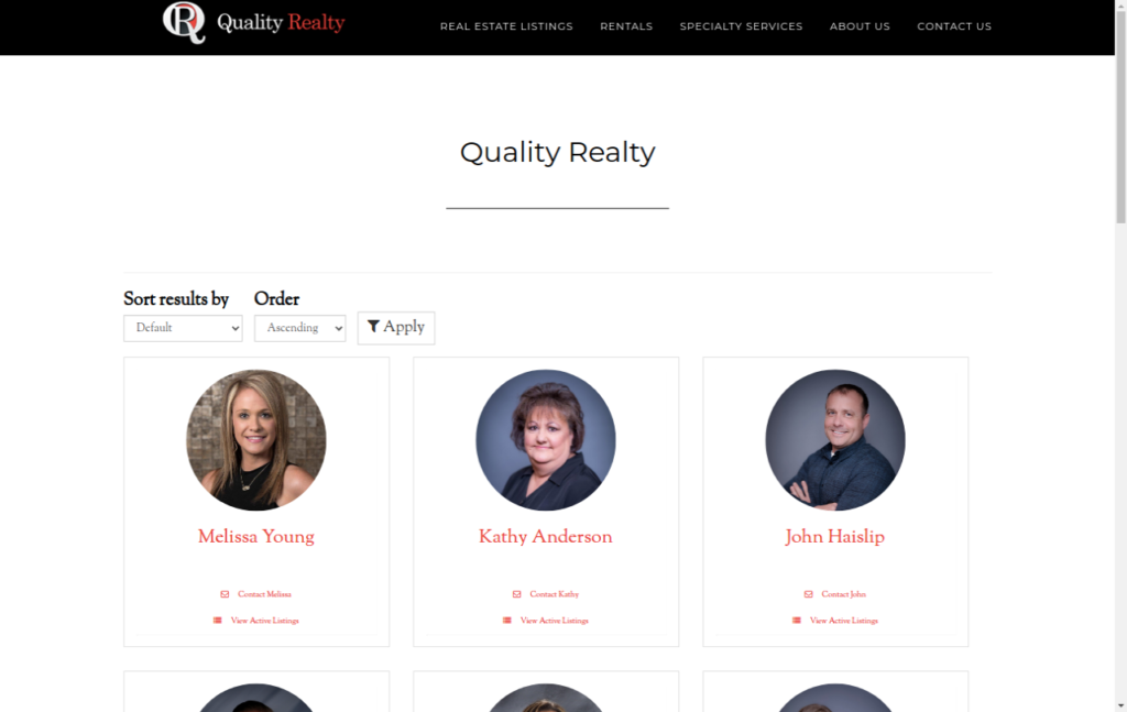 Circle Roster - Quality Realty
