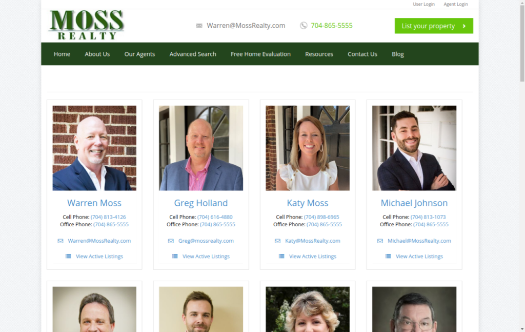 Square Roster - Moss Realty