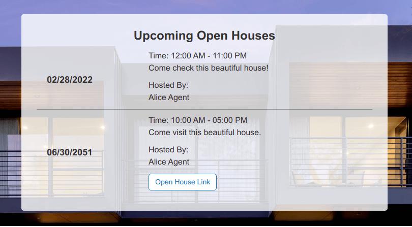 Elegant open house notice