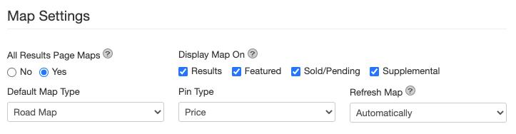 Map-settings