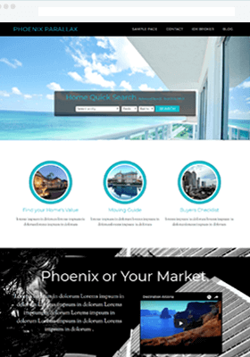 Phoenix Parallax Theme Screenshot