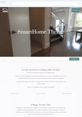 SmartHome Free WordPress Theme IDX Broker Ready Download